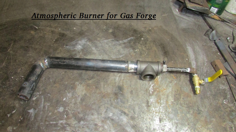 Atmospheric                                                           Burner for                                                           Blacksmith Gas                                                           Forge