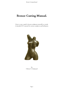 Bronze                                                       Casting Manual                                                       Cover image.