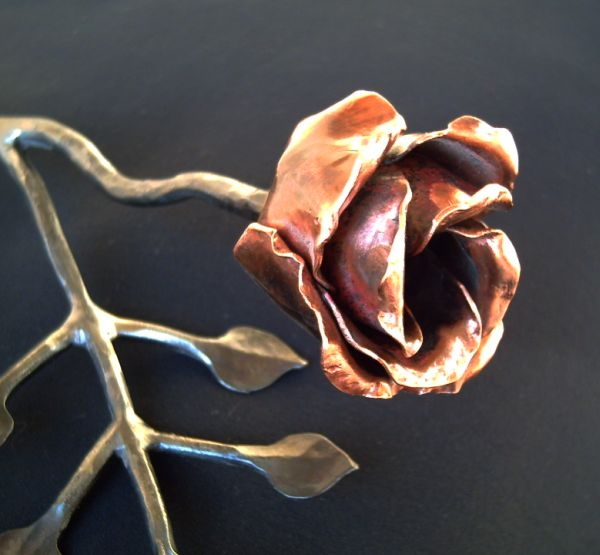 Blacksmith Class                                               Forged Rose Detail