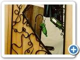 Decorative ironwork mirror