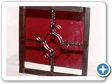 decorative forged square mirror