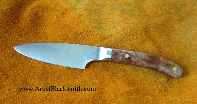 Stainless Steel                                                     Integral Bolster                                                     Kitchen Knife