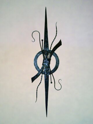 Genesis Wrought Iron Wall Sculpture