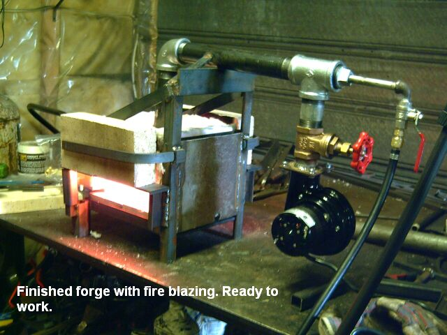 Gas Forge Plans, box forge with blower