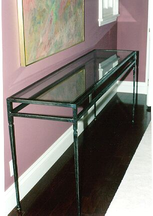 Custom Ironwork Serving Table