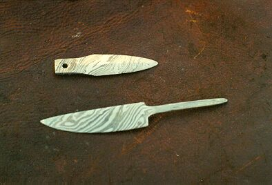 Ontario                                                       Blacksmith Classes                                                       | Two Damascus or                                                       Pattern Wellded                                                       Knives